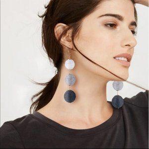 White and Gray Ombre Bon Bon Large Earrings